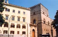 particolare di palazzo chiaramonte PALERMO Giambattista Scivoletto
