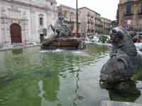 Fontana del Tritone in Piazza Garibaldi CALTANISSETTA Giambattista Scivoletto