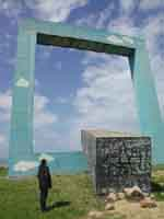 Monumento ad un Poeta morto (Tano Festa)  - Fiumara d'arte (9072 clic)