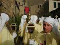 Gli Incappucciati - domenica di Pasqua ad Enna  - Enna (1875 clic)
