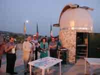 Inaugurazione dell'Osservatorio Astronomico di Monterosso Almo. Il Prof. Monaca al microfono  - Monterosso almo (3189 clic)