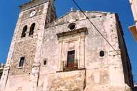 Chiesa di S. Antonio Abate - facciata posteriore con campanile e orologio  - Melilli (6232 clic)