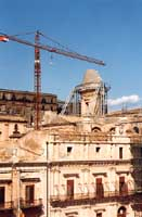 ricostruzione della cupola della cattedrale  - Noto (3522 clic)